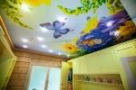 оригинальный рисунок на потолоке из гкл