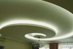 криволинейный потолок в зале