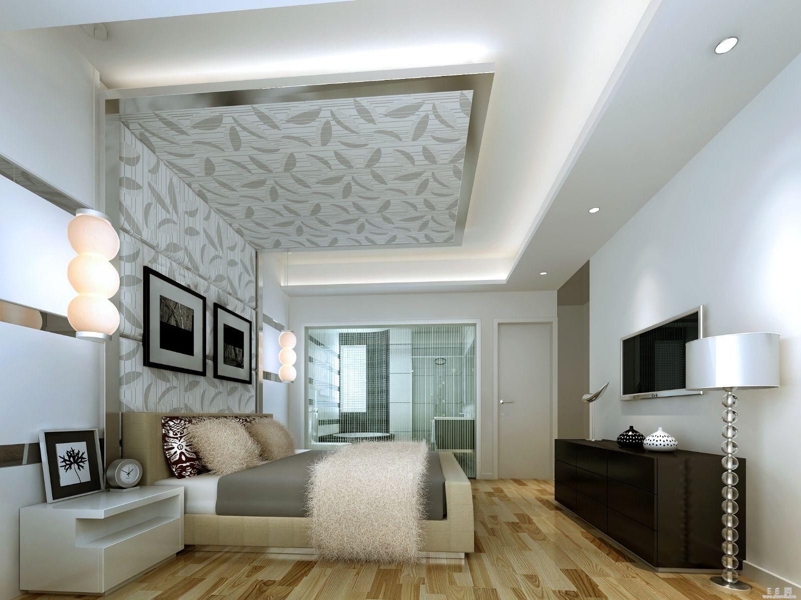 Потолок гипсокартон фото спальня