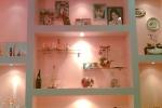 розовая подсветка в спальне