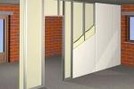 схема стенки с дверью