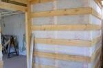 деревянный каркас стенки