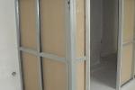 конструкция каркаса стена с дверью