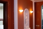 бордовая отделка зала