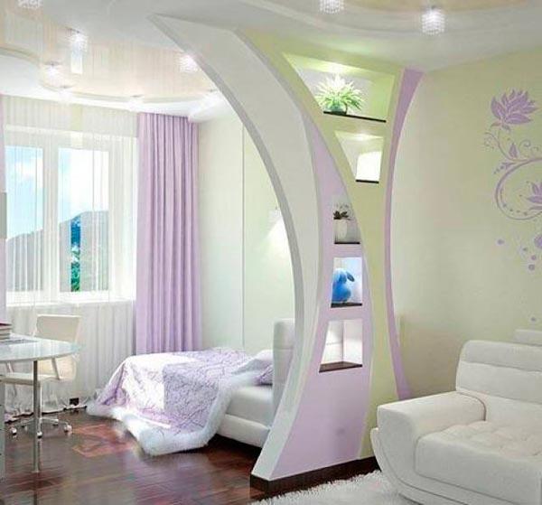 Двухъярусные потолки из гипсокартона фото
