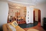 дизайн перегородки в гостинной
