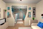 оформление интерьера в комнате