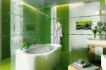 плитка в зеленых тонах