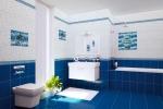 синий дизайн ванной