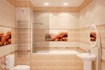 бежевые цвета ванной комнаты