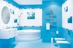 голубой дизайн плитки