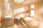 кремовая ванная комната