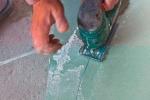 вырезание фигуры из гипсокартона
