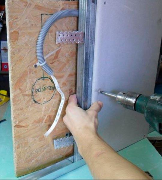 как правильно прикручивать гипсокартон к стене