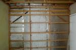 деревянный каркас в сауне