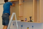 процесс монтаж кухонных шкафов