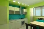 салатовый интерьер на кухне