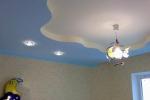 покраска потолка в фиолетовый