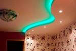 монтаж люстры на потолке