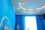фигурный потолок из гкл