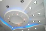 дизайн узора на потолке из гкл