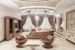 светлый дизайн гостинной