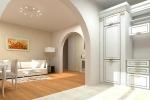 арка между прихожей и комнатой