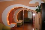 вариант конструкции арки в гостинной