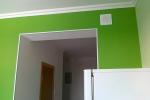 отделка зеленым цветом