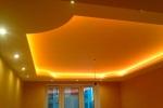 потолок желтого цвета