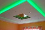 салатовая подсветка потолка