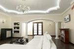 покраска стен и потолка в гостиной