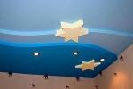 монтаж звезд на потолке
