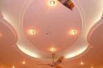 стильная отделка потолка из гкл