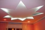 оформление потолка звездой