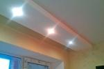 освещение на гипсовом материале