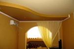 криволинейный потолко из гипсокартона