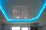 оформление подсветки на потолке