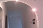 монтаж подсветки в арке