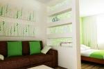 оформление перегородки для комнаты