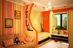 оранжевый интерьер квартиры