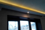 подсветка на потолке из гкл