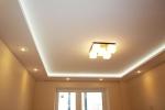 дизайн гостинной с подсветкой