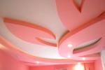 розовые тона в гостинной