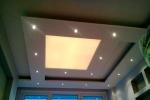 многоровневая конструкция с освещением