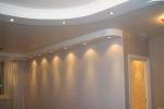 монтаж светильников в зале