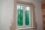 готовое поштукатуренное окно