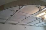 каркас из профилей на потолке
