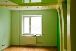 зеленная отделка комнаты