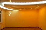 оранжевая покраска гипсокартона
